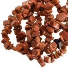 Gemstone Chips Goldstone (5 - 8 mm) 200 pcs