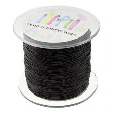 Top Quality Elastic Thread (1 mm) Black (100 Meter)