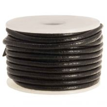 DQ Leather Regular (2 mm) Black (5 Meter)
