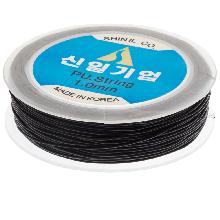 Top Quality Elastic Thread (1 mm) Black (25 Meter)