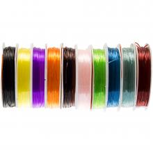 Elastic Thread (0.8 mm) Mix Color (10 x 8 Meter)