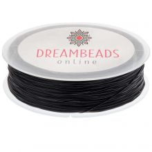 Top Quality Elastic Thread (0,6 mm) Black (80 Meter)