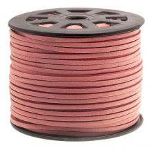 Faux Suede Cord (3 mm) Blush Pink (91 Meter)