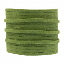 Faux Suede Cord (3 mm) Parrot Green (5 Meter)