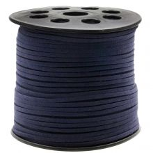 Faux Suede Cord (3 mm) Dark Blueberry (91 Meter)
