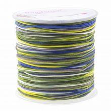 Nylon Cord (1 mm) Mix Color - Navy Yellow (100 Meter)