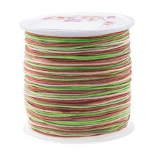 Nylon Cord (1 mm) Mix Color - Mossy Brown (100 Meter)