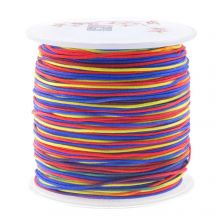 Nylon Cord (1 mm) Mix Color - Rainbow (100 Meter)
