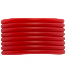 Rubber Cord (4 mm) Bright Red (5 Meter) hollow inside