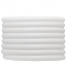 Rubber Cord (5 mm) White (2 Meter) hollow inside