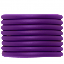 Rubber Cord (5 mm) Perfect Purple (2 Meter) hollow inside