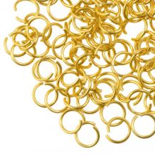 Stainless Steel Jump Rings (4 mm) Gold (50 pcs) Thickness 0.5 mm