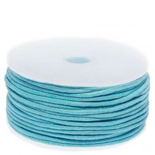 Waxed Cotton Cord (circa 1.5 mm) Light Blue (25 Meter)