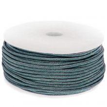 Waxed Cotton Cord (circa 1.5 mm) Petrol Blue (25 Meter)