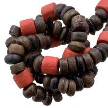 Bead Mix - Bone Beads (7 x 3 mm) Hot Brown (100 pcs)
