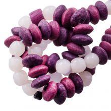 Bead Mix - Bone Beads (7 x 4 mm) Berry (40 pcs)