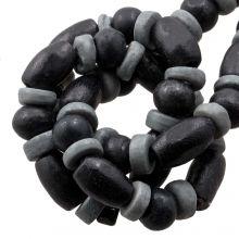 Bead Mix - Bone Beads (6 x 3 mm) Grey (85 pcs)