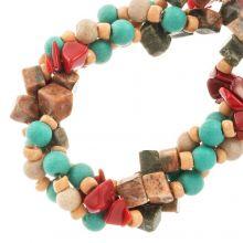 Bead Mix - Agate & Glass Beads (9 - 4 mm) Groovy (150 pcs)