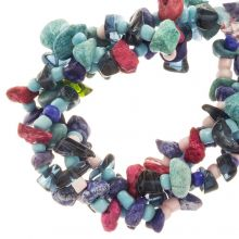 Bead Mix - Agate Beads (13 - 4 mm) Blueberry (150 pcs)