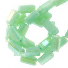 Electroplated Glass Beads (4 x 2 mm) Mint Green (100 pcs)