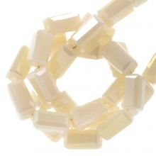 Electroplated Glass Beads (4 x 2 mm) Nude (100 pcs)
