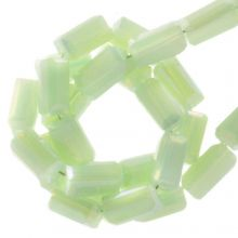 Electroplated Glass Beads (4 x 2 mm) Pastel Green (100 pcs)