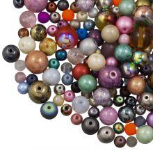 Bead Mix - Glass Beads (Various sizes) Mix Color (50 gram)