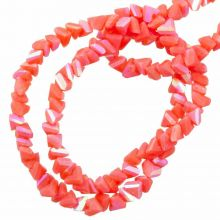 Electroplated Glass Beads (3 x 2 mm) Tomato Red  AB (148 Stuks)