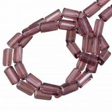 Glass Beads Transparent (7 x 4 mm) Purple Brown (80 pcs)