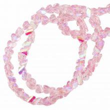 Electroplated Glass Beads (3 x 2 mm) Pink AB (148 Stuks)