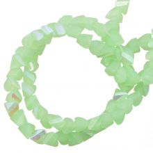 Electroplated Glass Beads (3 x 2 mm) Pale Green AB (148 Stuks)