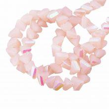 Electroplated Glass Beads (3 x 2 mm) Peach Puff AB (148 Stuks)