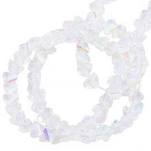 Electroplated Glass Beads (3 x 2 mm) Crystal AB (148 Stuks)