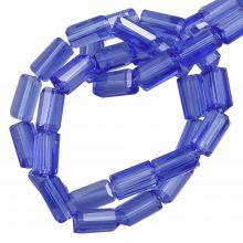 Glass Beads Transparent (7 x 4 mm) Royal Blue (80 pcs)