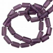 Glass Beads Transparent (7 x 4 mm) Purple (80 pcs)