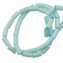 Electroplated Glass Beads (5 x 2.5 mm) Pale Turquoise AB (95 pcs)