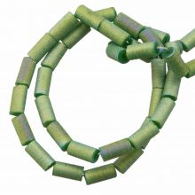 Electroplated Glass Beads (5 x 2.5 mm) Dark Sea Green AB (95 pcs)