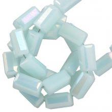 Electroplated Glass Beads (4 x 2 mm) Soft Blue (100 pcs)