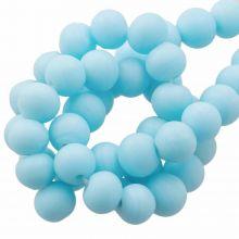 Glass Beads Matt (8 - 9 mm) Sapphire (28 pcs)