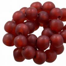 Resin Beads Mat (8 - 9 mm) Berry (20 pcs)