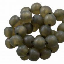 Resin Beads Mat (8 - 9 mm) Moss Green (20 pcs)