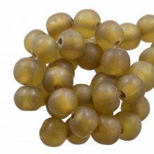 Resin Beads Mat (8 - 9 mm) Dijon (20 pcs)