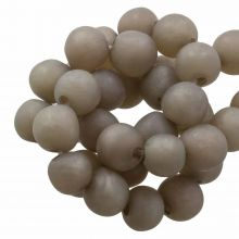 Resin Beads Mat (8 - 9 mm) Hazel Wood (20 pcs)