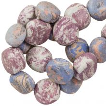 Ceramic Beads (16 x 8 mm) Lavender (13 pcs)