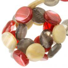 Glass Beads Flat (12 x 3.5 mm) Retro (30 pcs)
