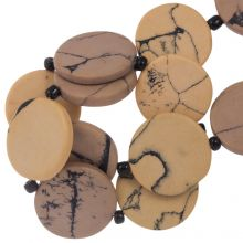 Ceramic Beads (23 x 3.5 mm) Nude (8 pcs)