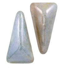 Vexolo® DQ Glass beads (5 x 8 mm) Alabaster Blue (20 pcs)