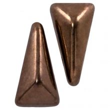 Vexolo® DQ Glass beads (5 x 8 mm) Jet Gold (20 pcs)