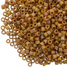 Miyuki Delica (11/0 mm) Matted OPQ Glazed Honey Bee AB (10 Grams)