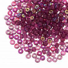 DQ Seed Beads (4 mm) Mulberry Purple AB (25 Gram / 350 pcs)